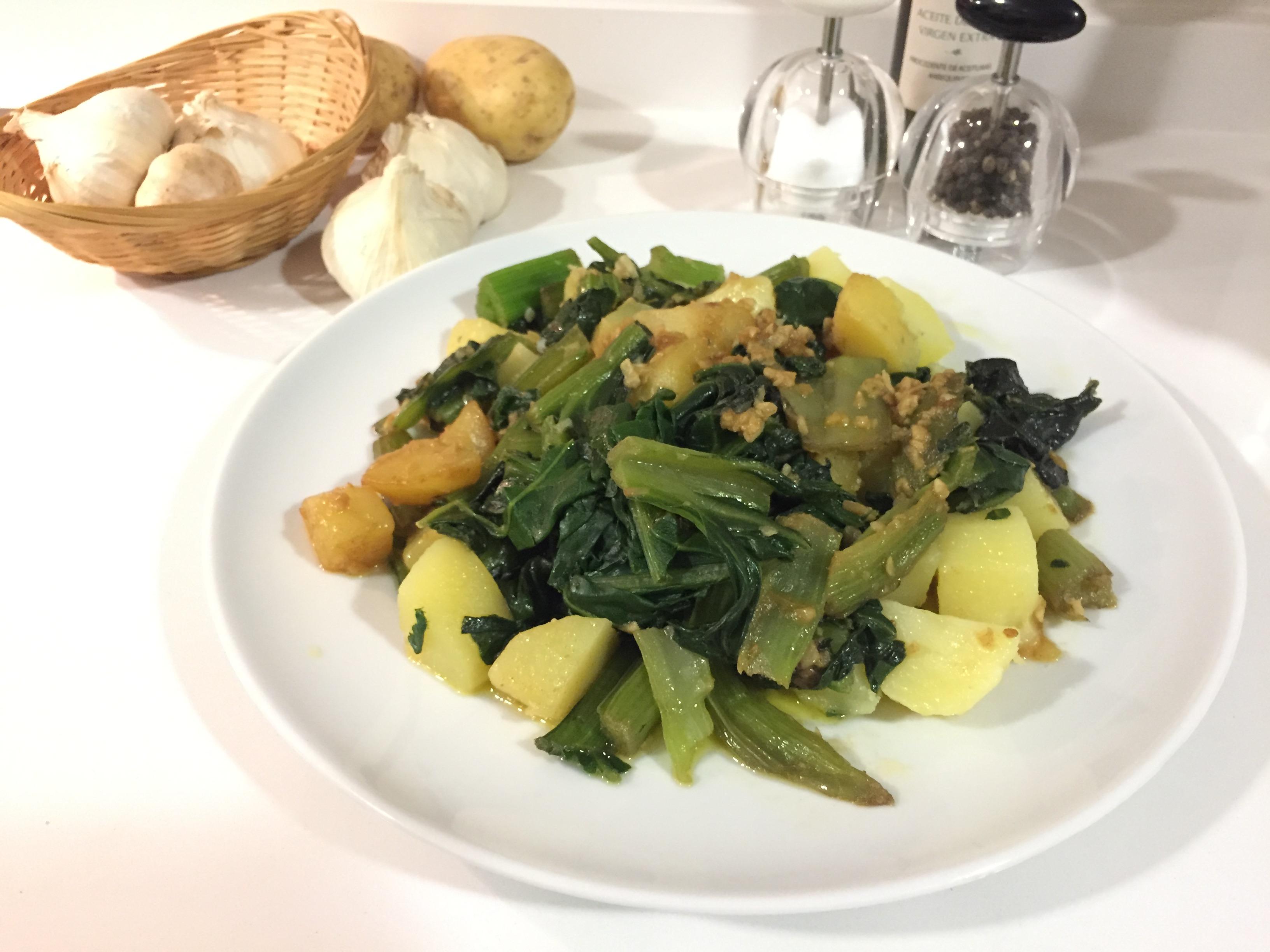 Receta Sencilla De Verduras Acelgas Con Patatas Verduras