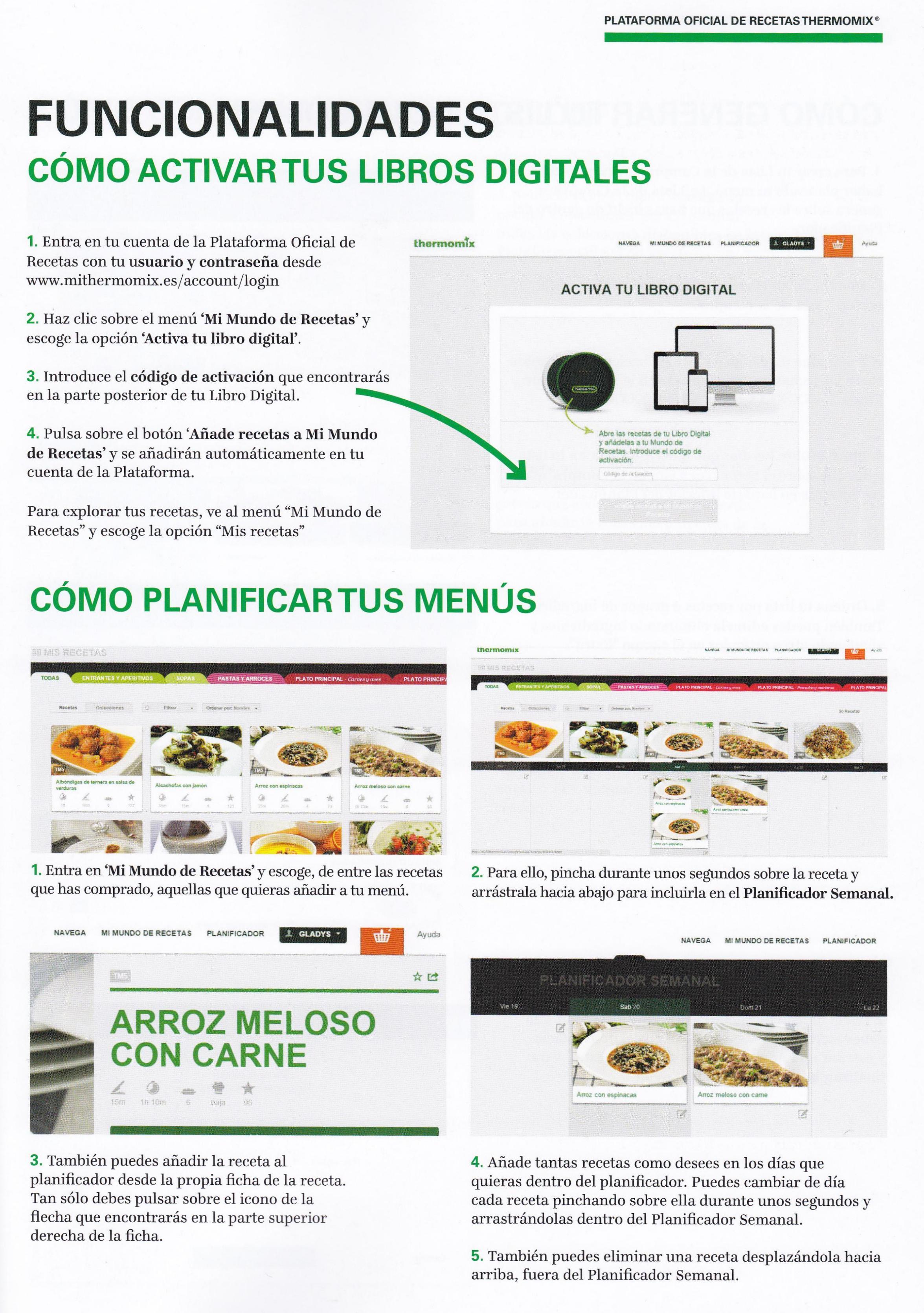 PLATAFORMA DE RECETAS - FUNCIONALIDADES
