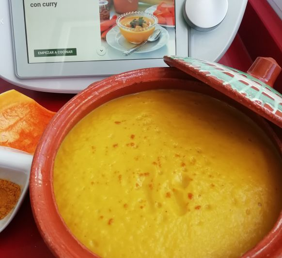 CREMA DE CALABAZA Y Curry con Thermomix®