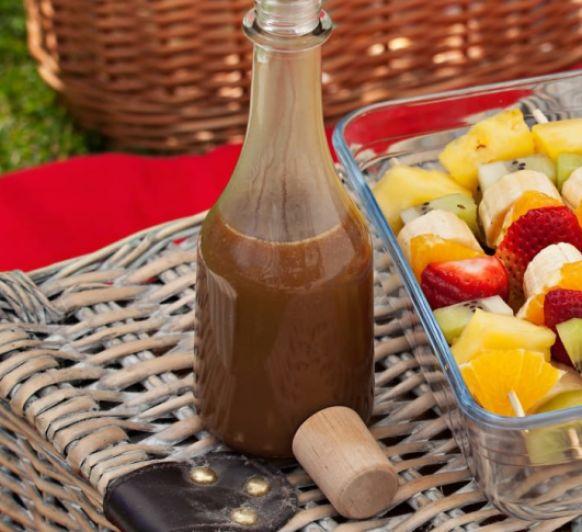 Brochetas de fruta con salsa de toffee con Thermomix® desde Majadahonda Madrid