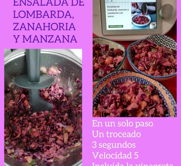 ENSALADA DE LOMBARDA, ZANAHORIA Y MANZANA CON Thermomix®