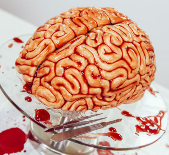 Haloween - Tarta cerebro