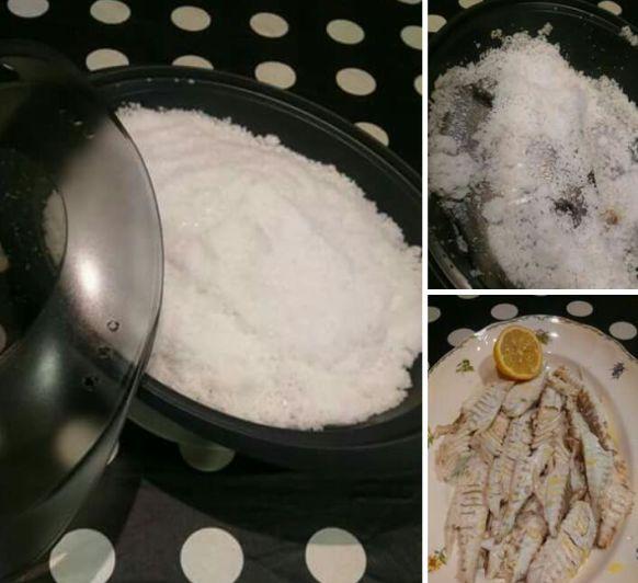 Lubina o Dorada a la Sal en Varoma