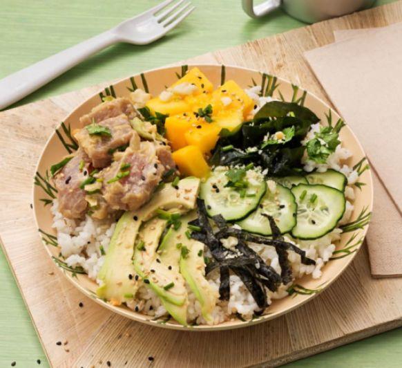 Ahi Poke (poke de atún con arroz) con Thermomix® desde Majadahonda Madrid