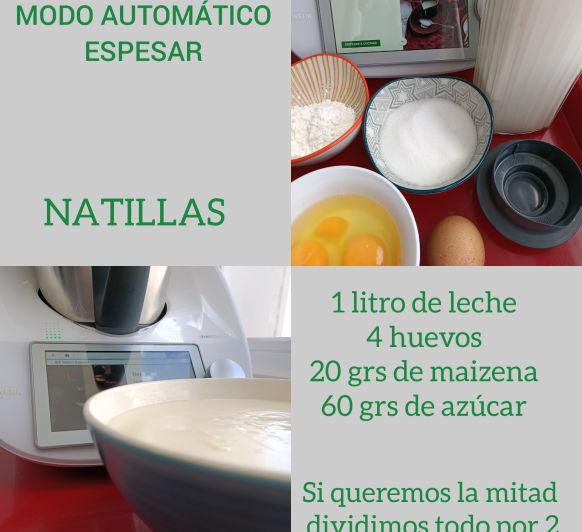 Natillas ricas fáciles y saludables modo espesar en Thermomix® desde Majadahonda en Madrid