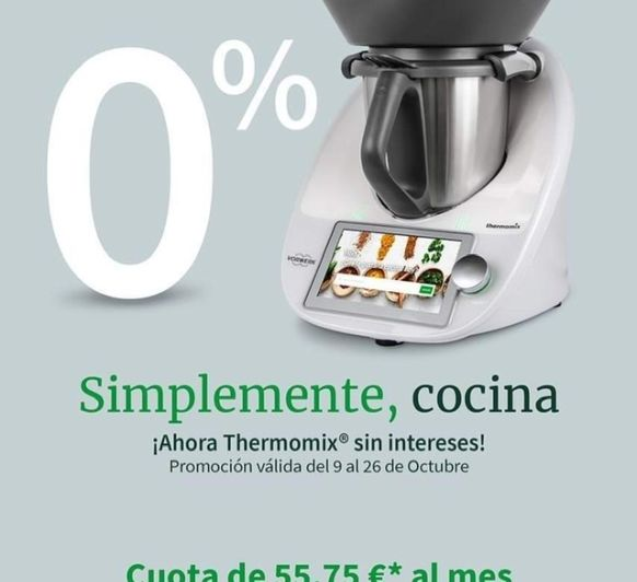 Financiación 0% de Thermomix® ️TM6®️ Majadahonda, Madrid