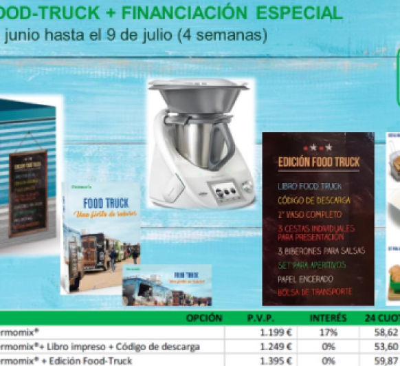 EDICION FOOD-TRUCK + FINANCIACION ESPECIAL 0% INTERES